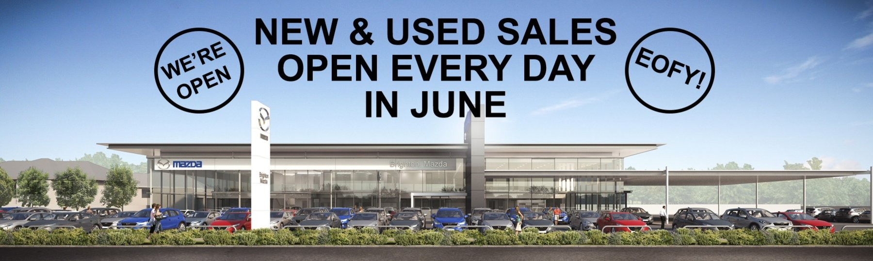 We're Open every day until the end of June!