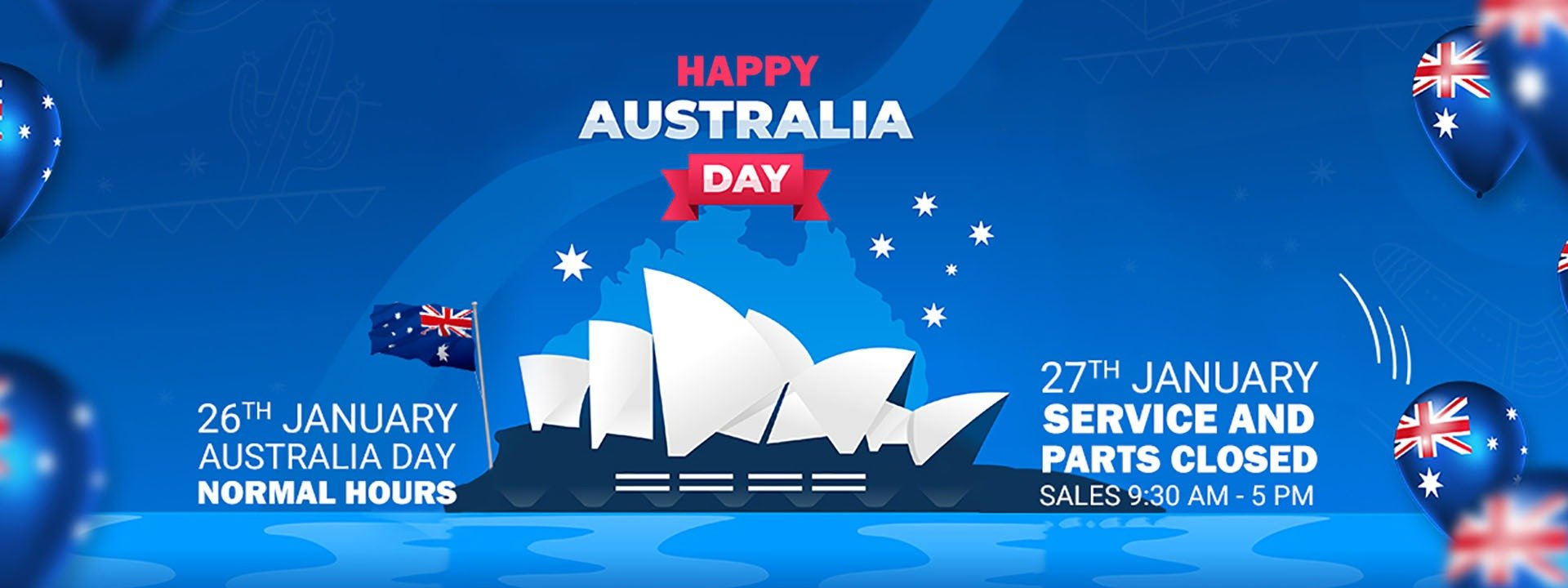 Australia Day Operating Hours