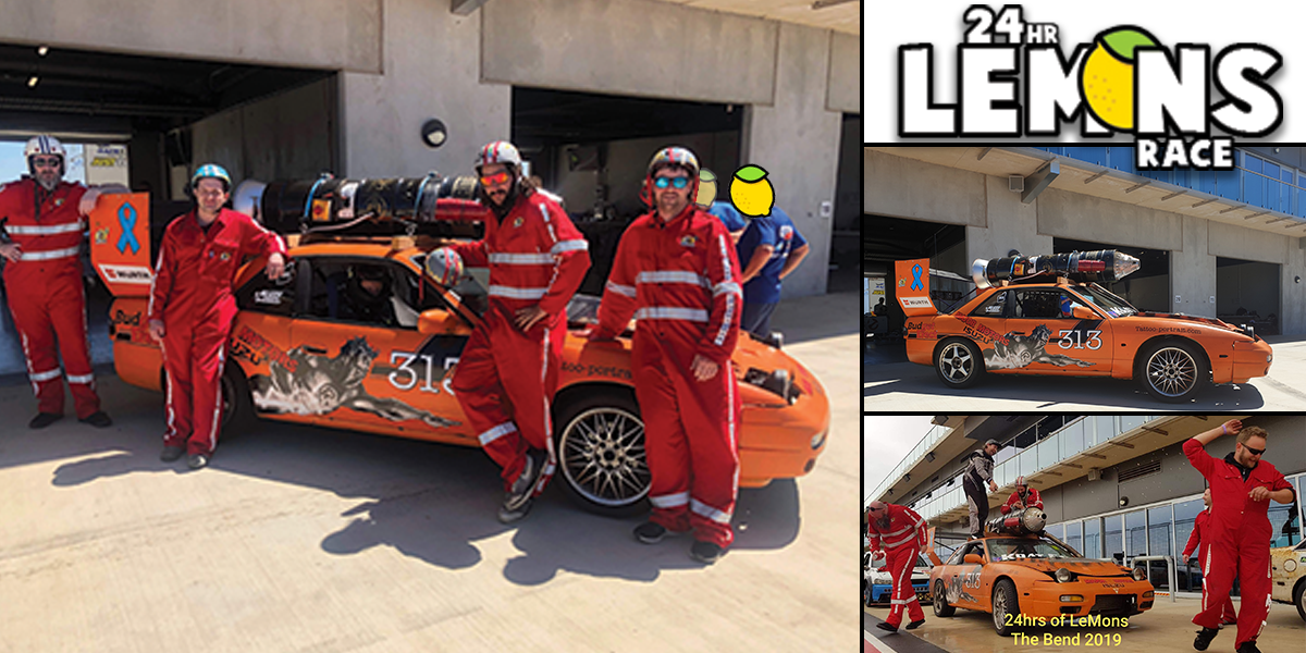 blog large image - Introducing the 'Captain Risky' car, raced in a mad-cap event by two of our staff members