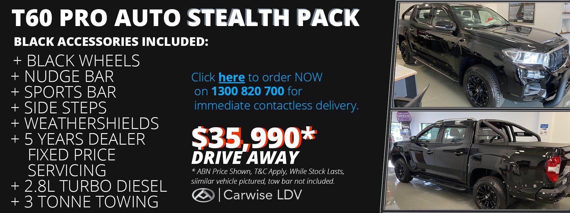 LDV T60 Stealth Pack