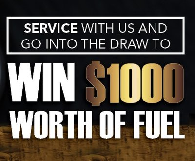 Sign saying 'win $1,000 worth of fuel' image