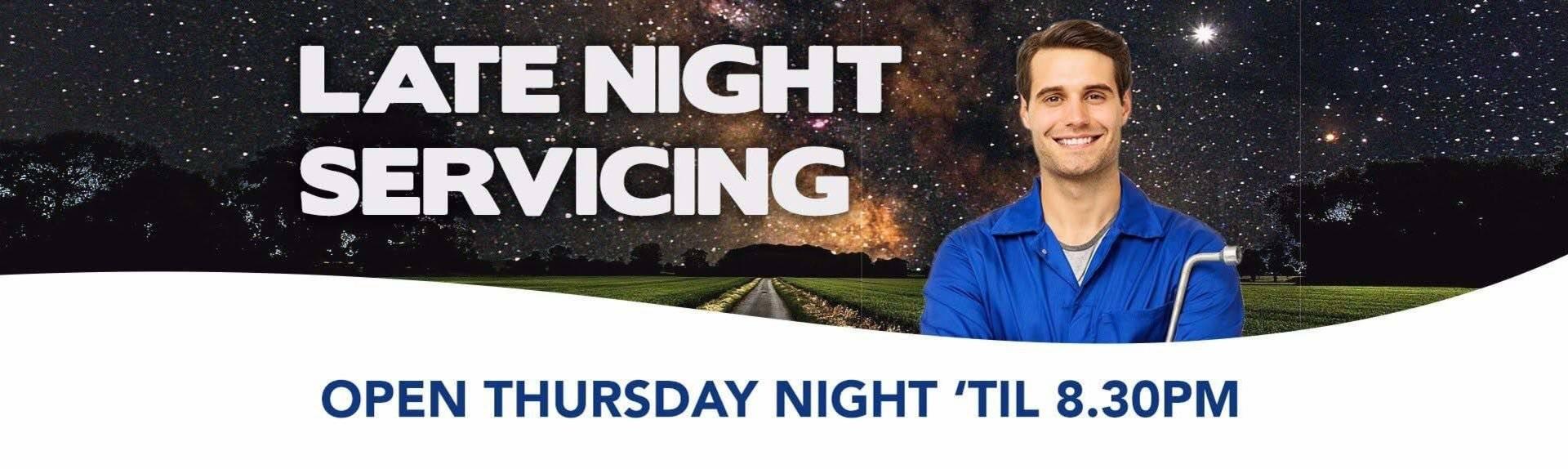 Llewellyn Subaru Night Service