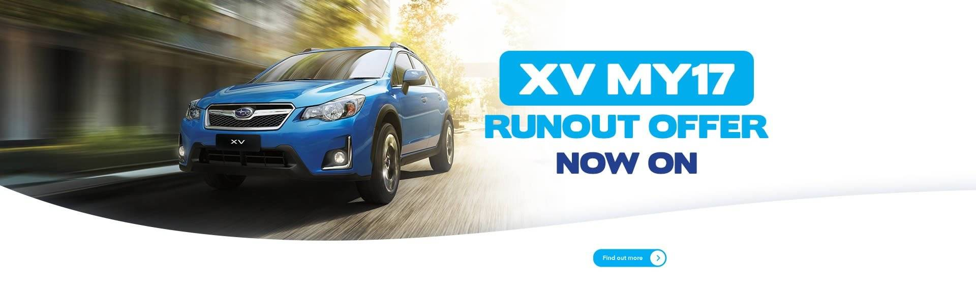 Subaru Melbourne XV MY17 Runout Offer