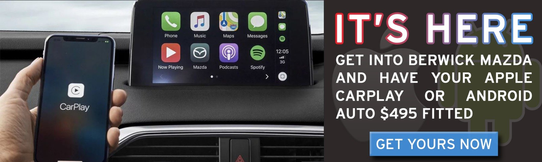 Berwick Mazda All New Apple car Play Android Auti