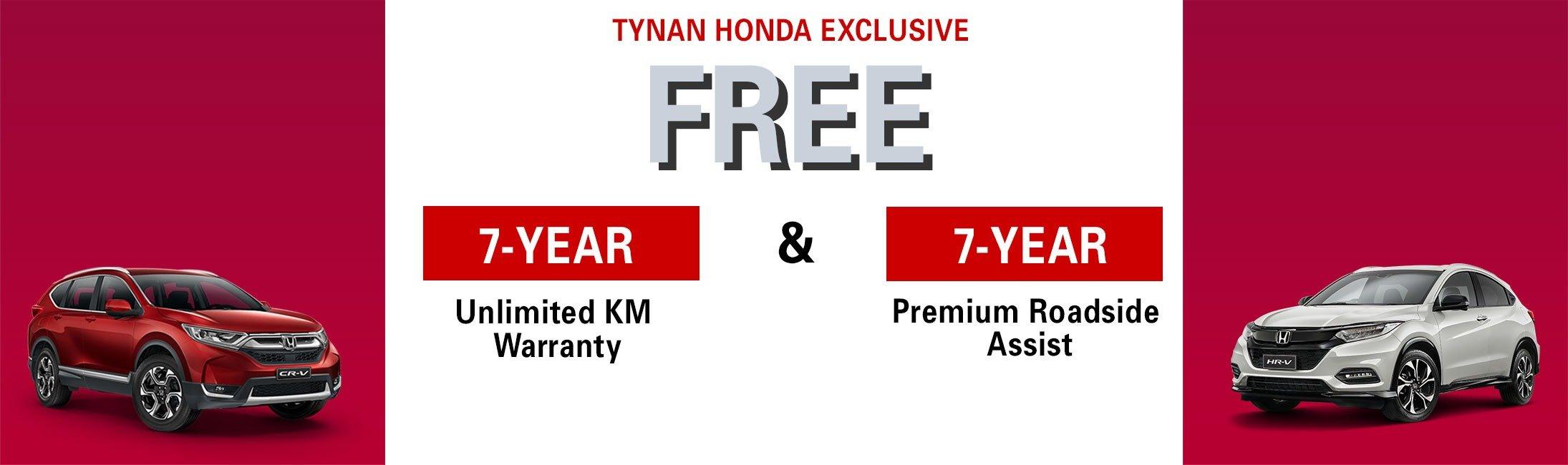 Tynan Honda EOFY Offer