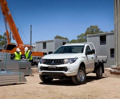 Mitsubishi Triton on a worksite image