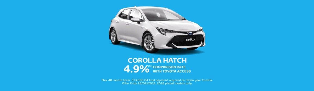 Toyota Corolla 4.9% Comparison Rate Large Image