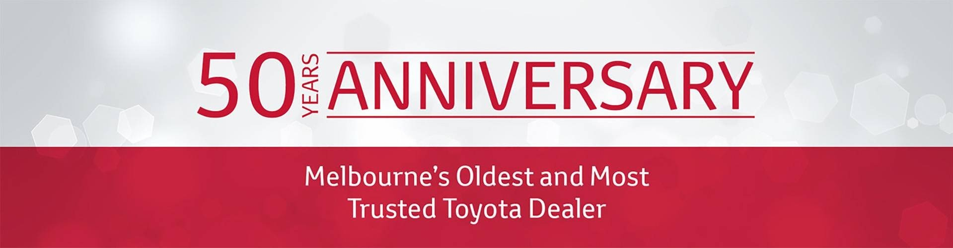 50 Year Anniversary | Croydon Toyota