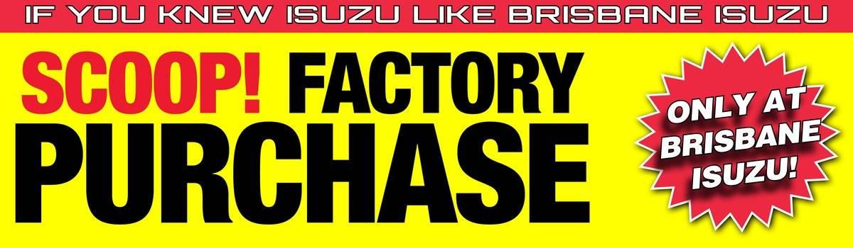 Scoop Brisbane Isuzu Tradepack Plus Factory Purchase Large Image