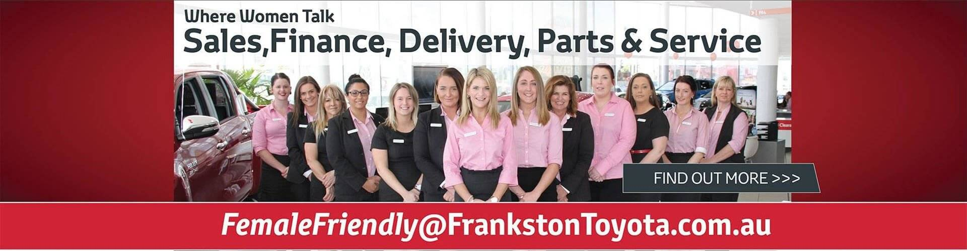 Frankston Toyota Female Friendly