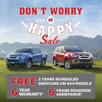 Isuzu UTE's Don't Worry Be Happy Sale Small Image