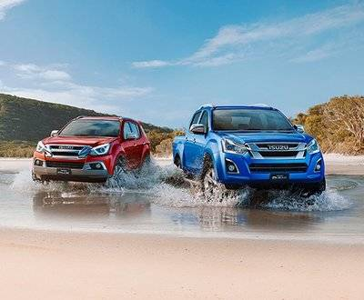 Isuzu D-MAX and MUX - Magnetic Red and Cobalt Blue image