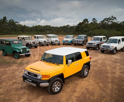 Toyota LandCruiser range through the years image