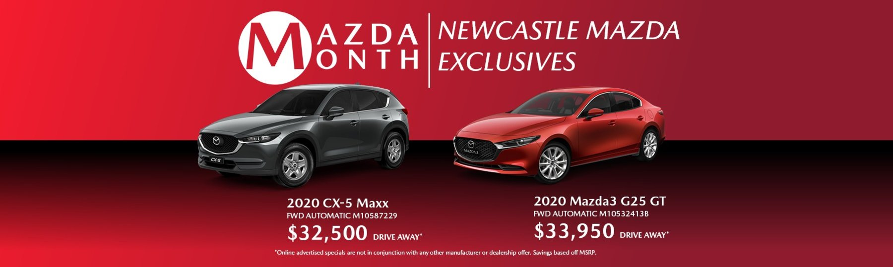 Mazda month exclusives