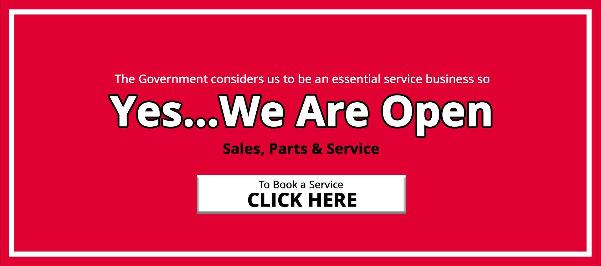 FTG HSV We're Open