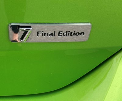 Close up of the R Line badge on rear of Golf image