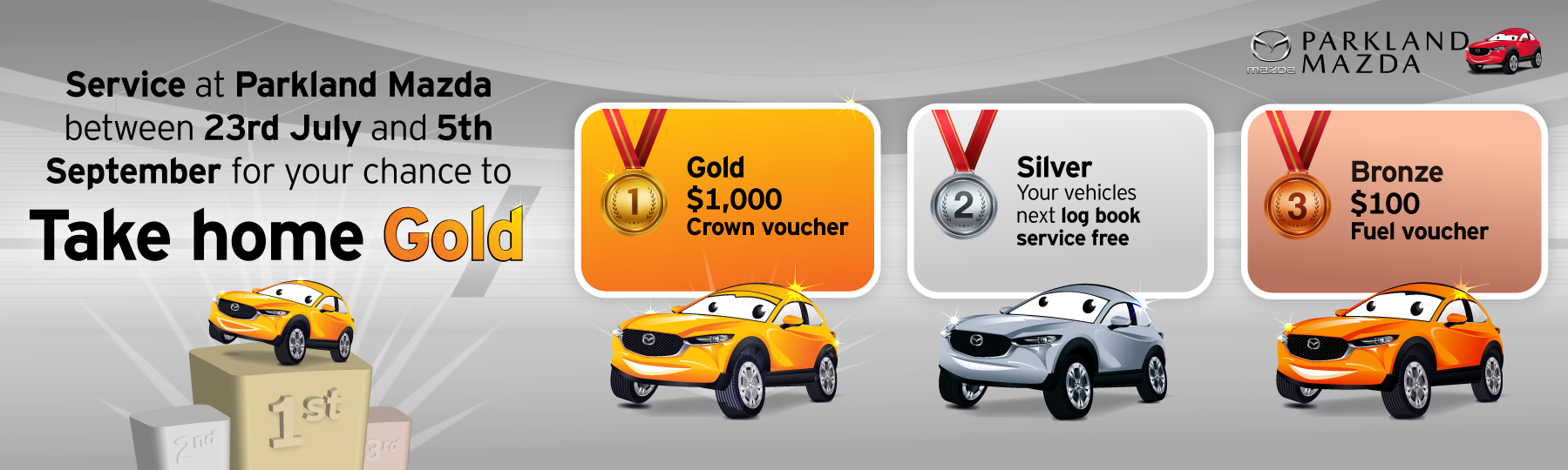 Book a service to take home gold
