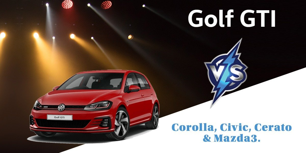 blog large image - <strong>Looking for a sporty hatch and considering a Cerato, Civic, Corolla or a Mazda3? Look no further than the peoples' car, the VW Golf!</strong>