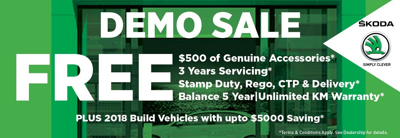 DEMO SALE ON NOW!