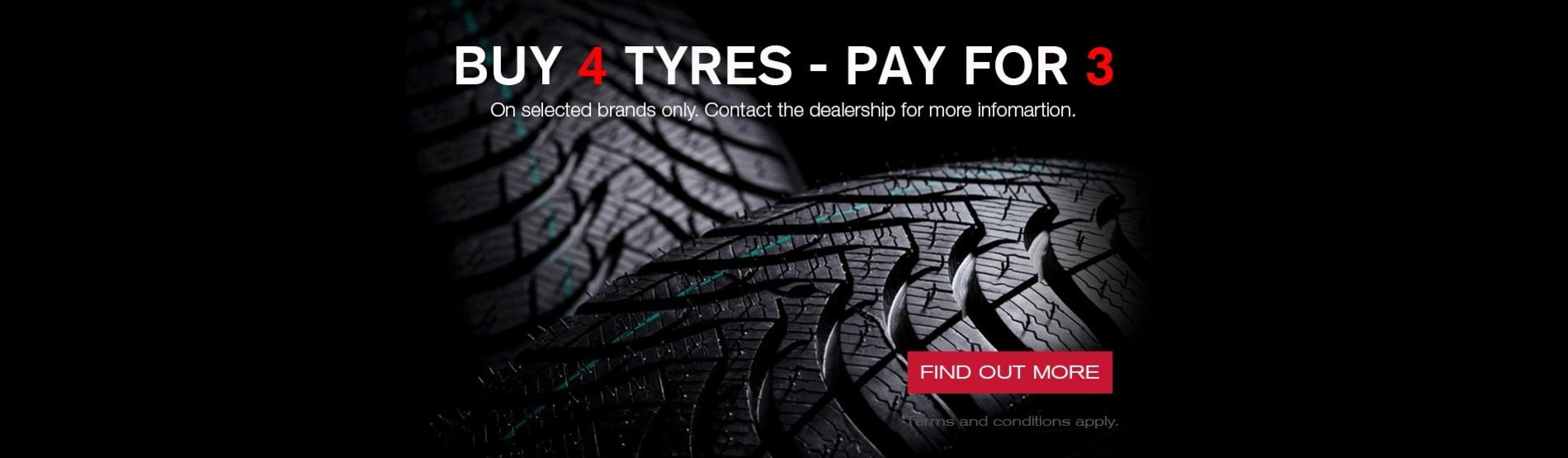 Tyre Special Buy 4 Pay for 3 Brisbane