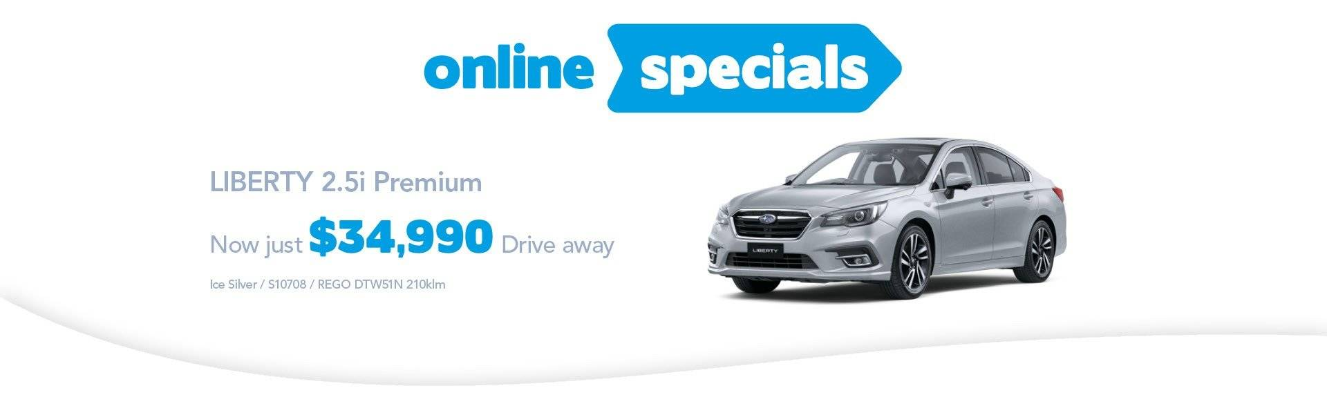 Hunter Subaru Online Specials