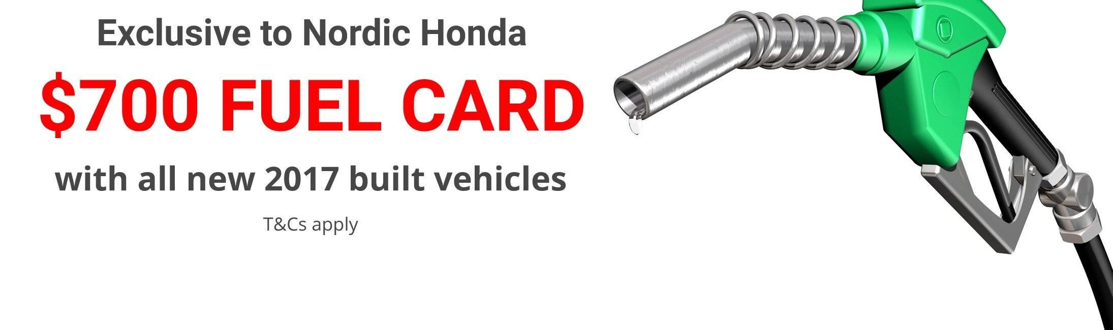 Honda Fuel card offer