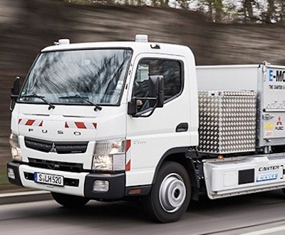 The prototype Fuso E-Cell Canter image