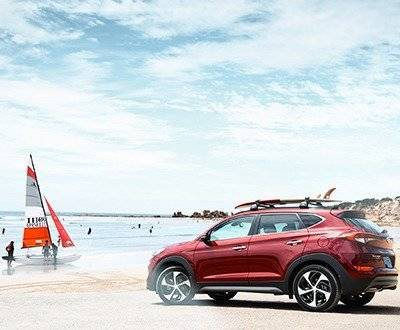 hyundai tucson at beach image