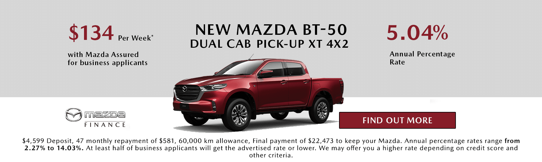 New Mazda BT-50 Dual Cab Chassis 4x2