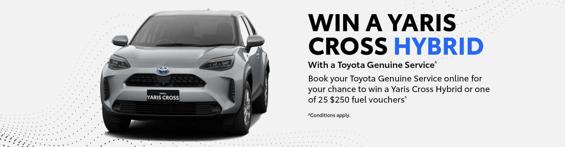 WIN A YARISCROSS HYBRID with a Toyota Genuine Service