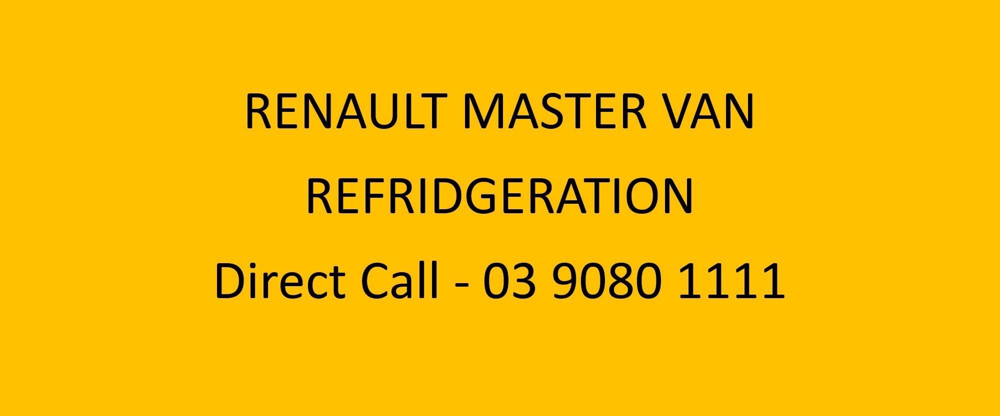 Renault Master Van Refridgeration