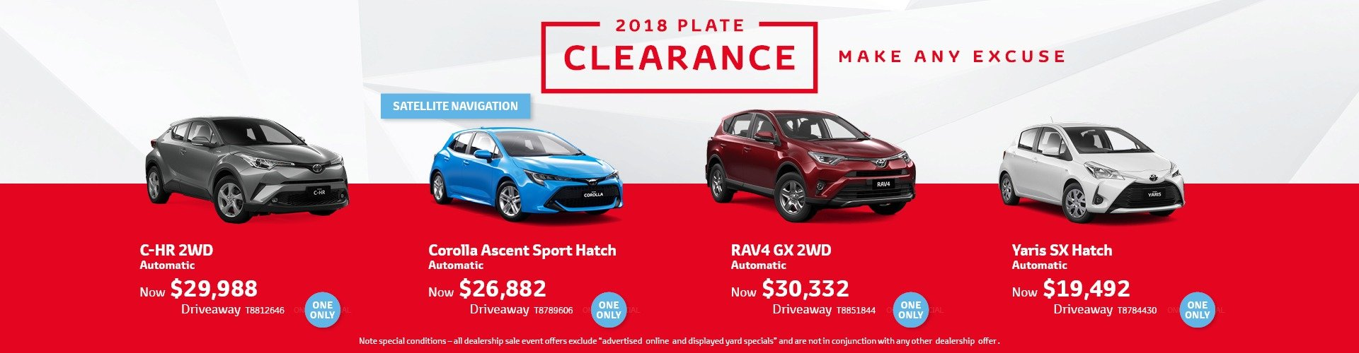 cardiff toyota plate clearance