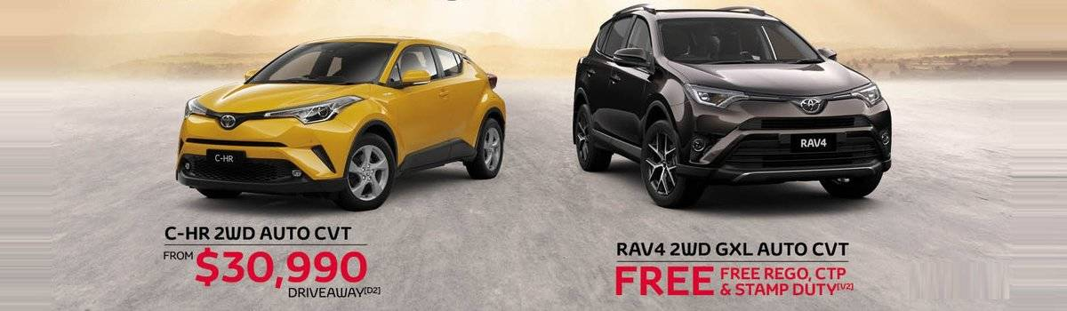 Waverley Toyota's Great Deals on C-HR and Rav4 Large Image