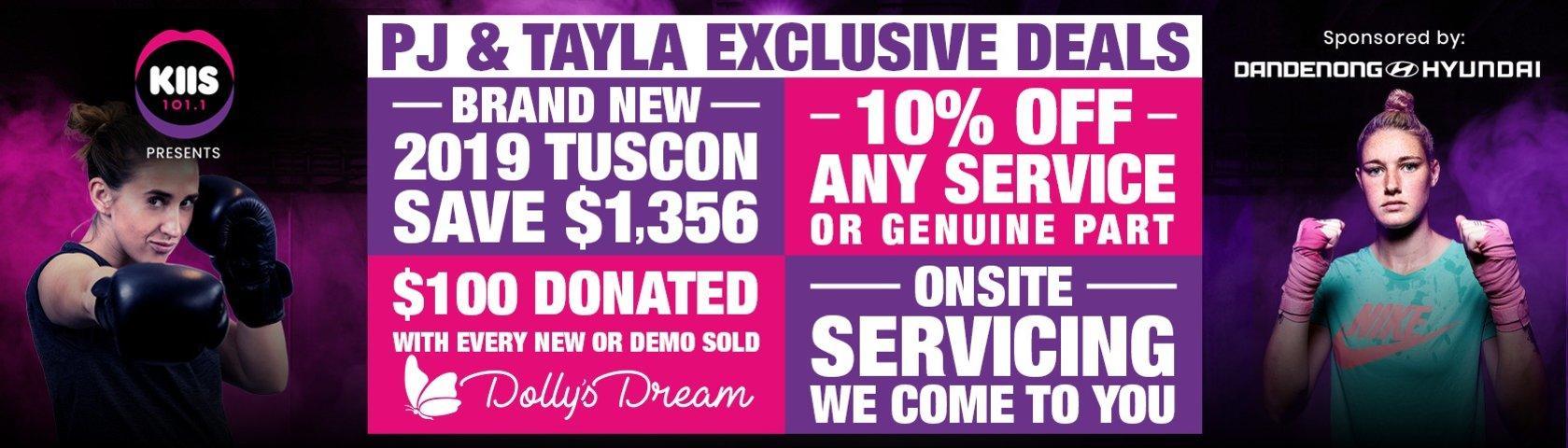 PJ vs Tayla Exclusive Deals