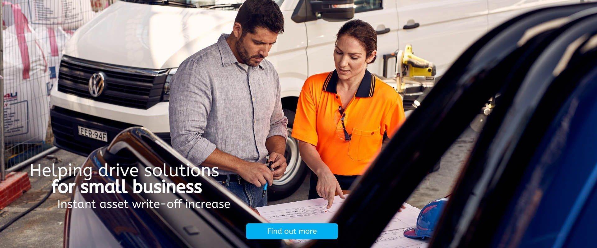 Denlo Volkswagen - Instant Tax Write off banner