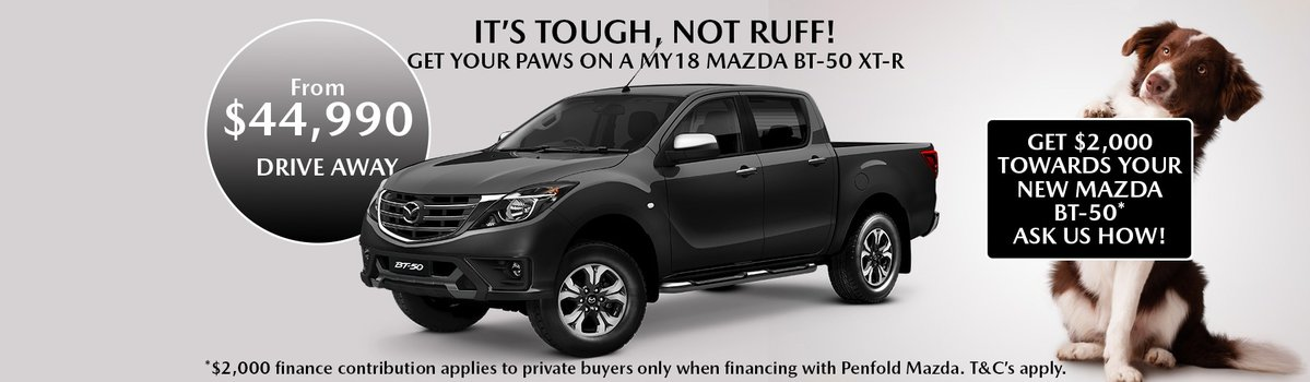 Get your paws on a MY18 BT-50 xtr - PLUS $2,000 Finance Contribution Large Image