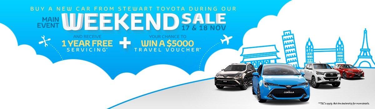 Stewart Toyota Main Event Weekend Sale: 17 & 18 November Large Image