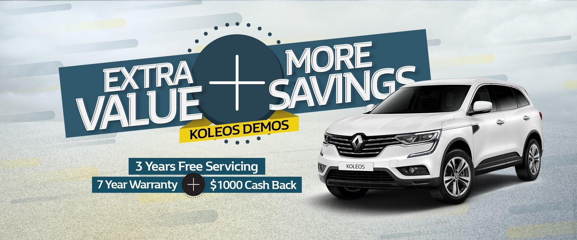 Koleos Demo Savings