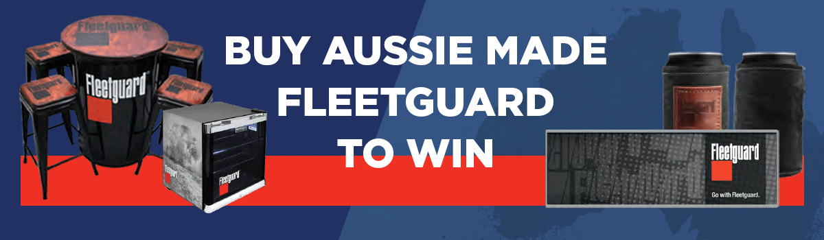 Buy Aussie made Fleetguard products for your chance to win great prizes! Large Image