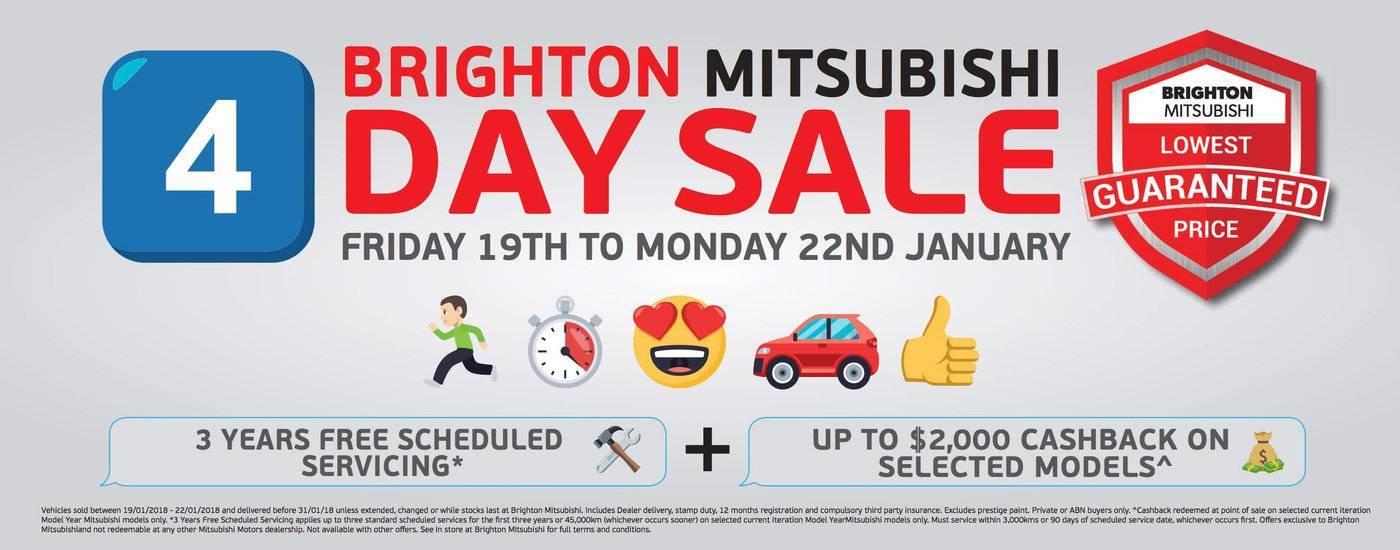 Brighton Mitsubishi 4 Day Sale