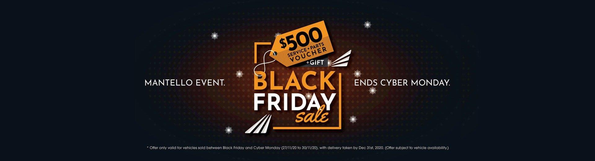 Mantello Motor Group - Black Friday Sale