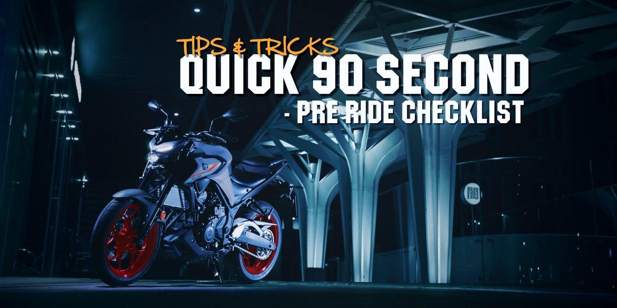 blog large image - Quick 90 Second - Pre Ride Checklist ⏰