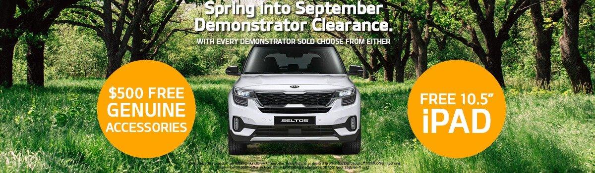 Spring into September - Demonstrator Clearance Sale! Large Image