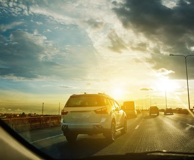 Driving on highway image