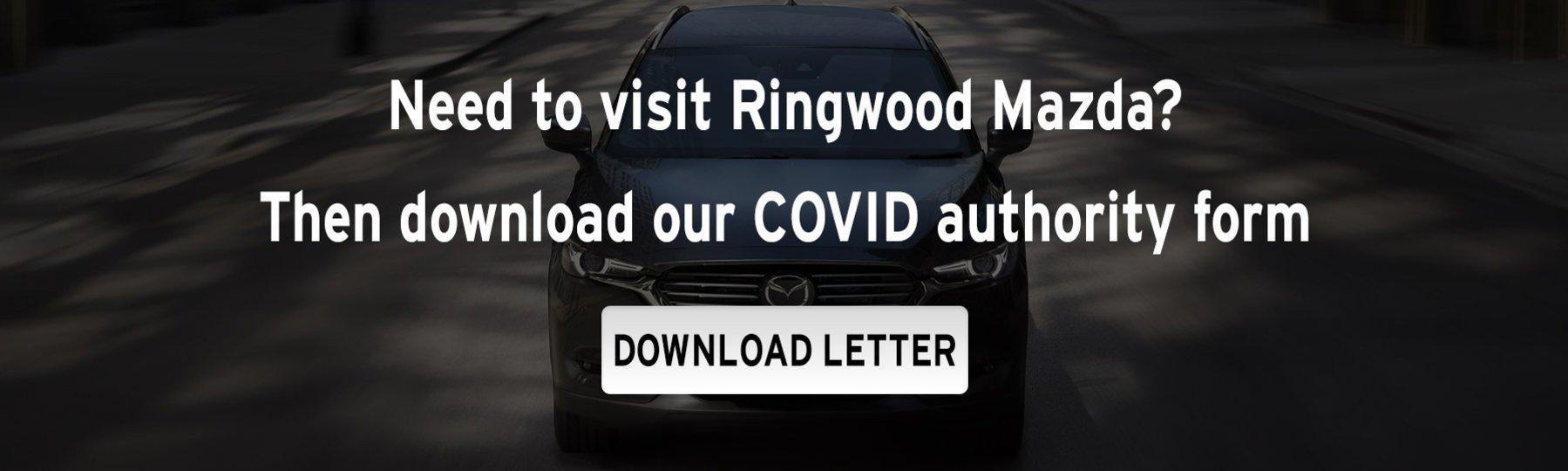 Ringwood Mazda COVID-19 Authority Form