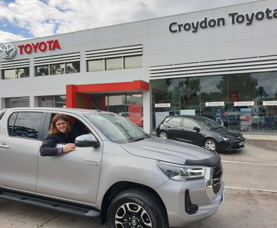 Darcy Moore and Toyota HiLux image