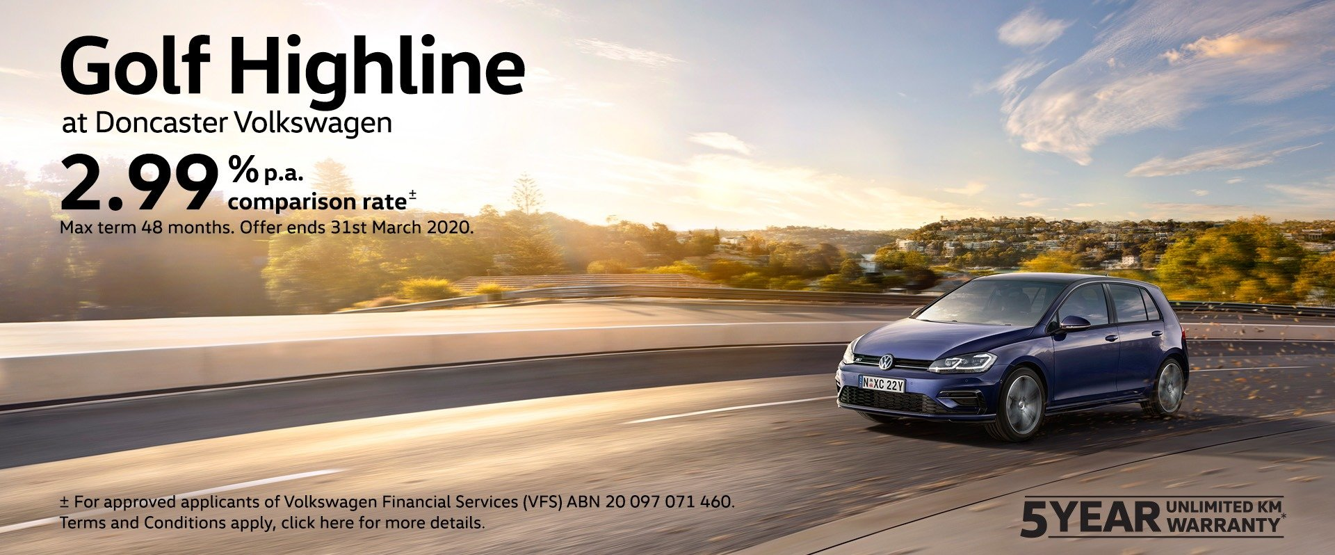 Golf Highline finance offer