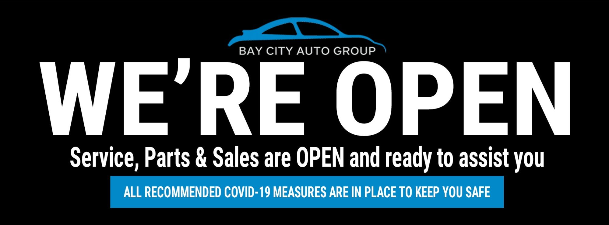 Bay City SsangYong - We're Open