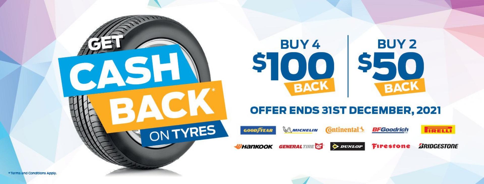 Get Cash Back on Tyres