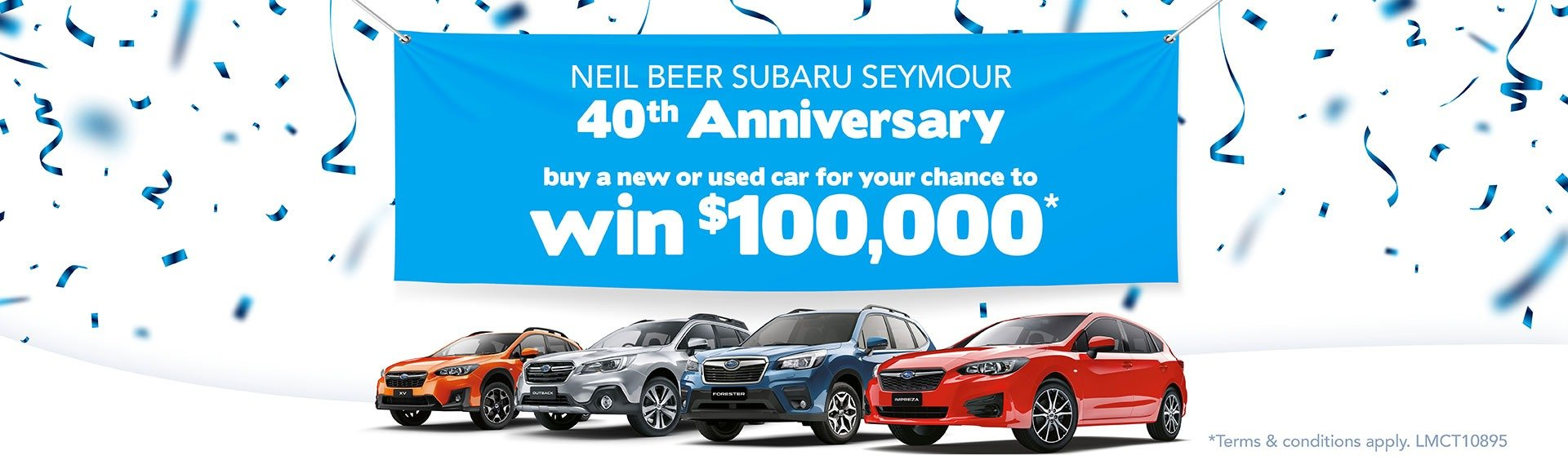 Beer Auto Group Seymour 40th Anniversary $100,0000 Giveaway